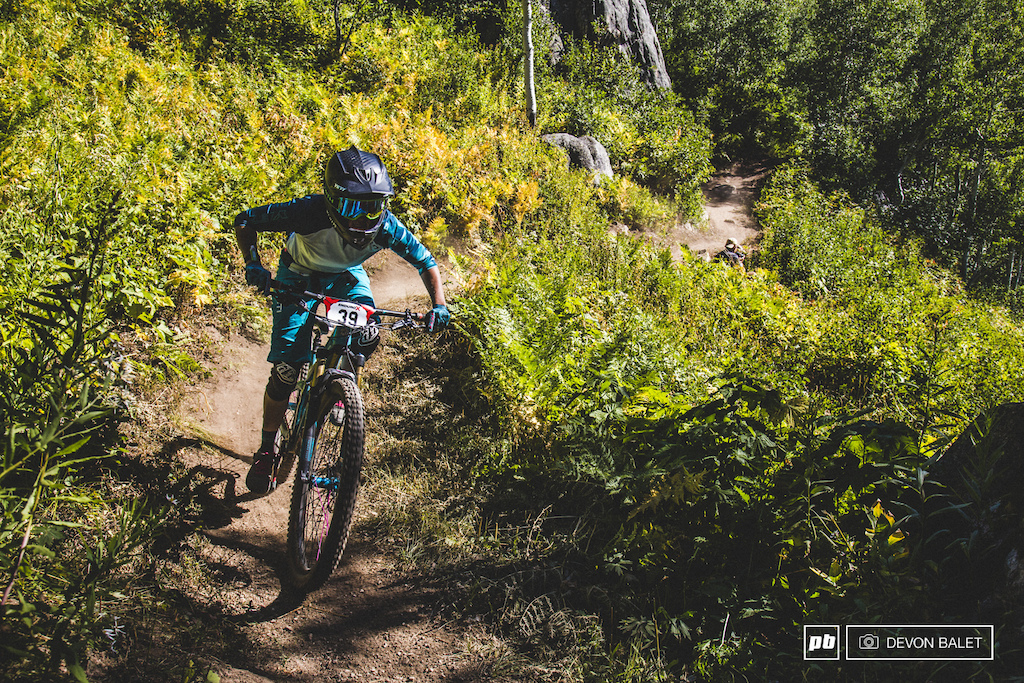 Liz Cunningham was sitting in 7th overall going into day two. After three stages on Steamboat Resort she moved up to 4th overall.