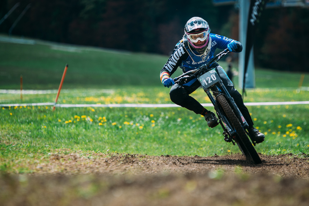 Her last race was in Kranjska Gora Slovenian national DH championships where she took another title photo by Klemen Humar