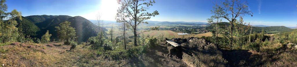 180° panoramic view from Krucza Skała peak (Góry Kamienne)