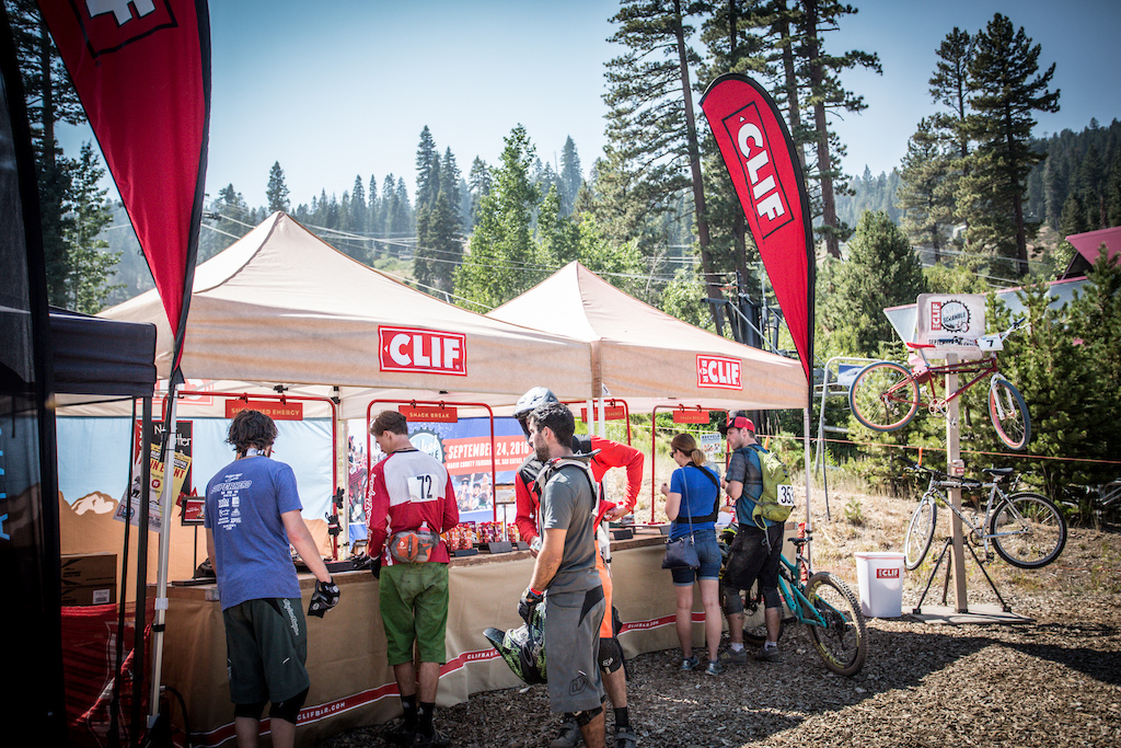 Clif Bar a sponsor of the series saw a lot of traffic today during the race as they had plenty of products on hand to nourish riders to the finish.
