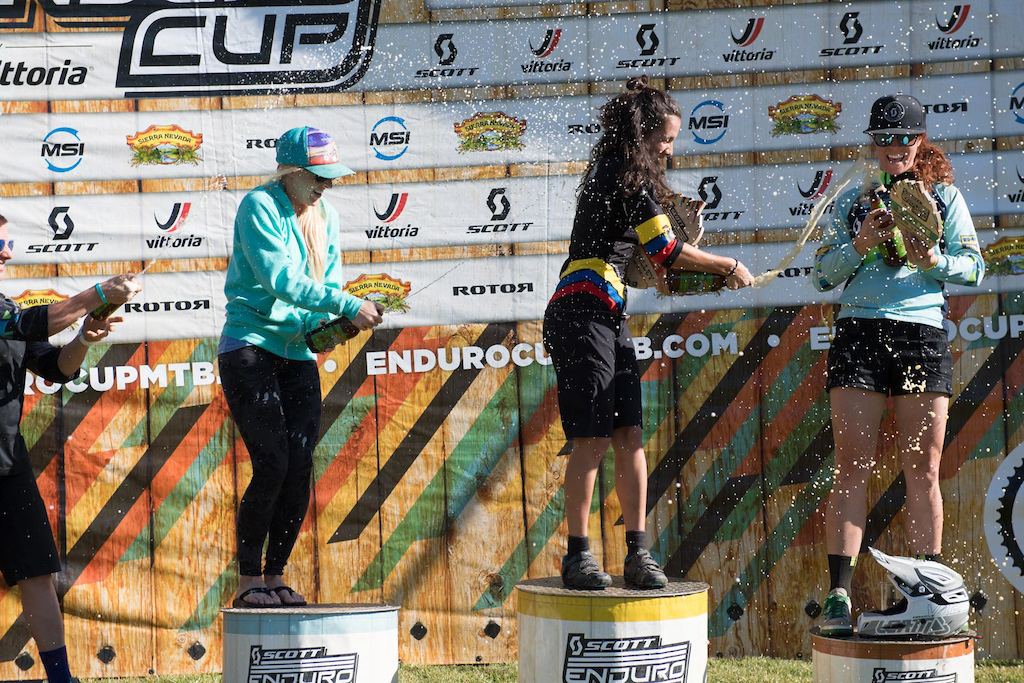 The top 3 on the Pro Women s Podium