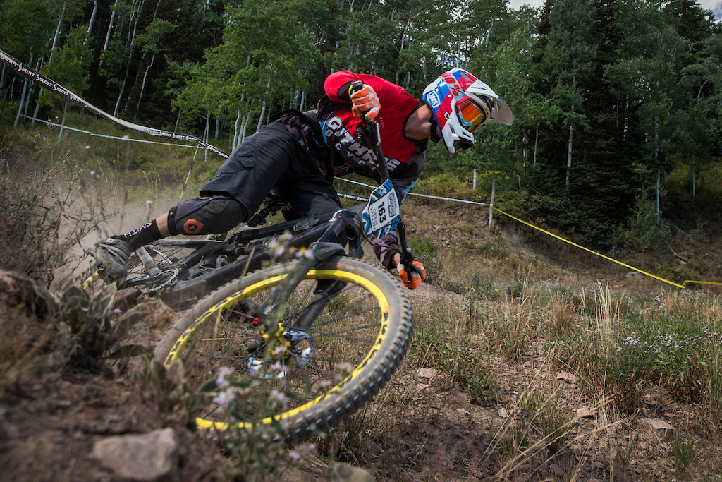Ryan Westermann races Stage Two of the SCOTT Enduro Cup at Deer Valley Resort in Park City, UT on Aug. 28, 2016