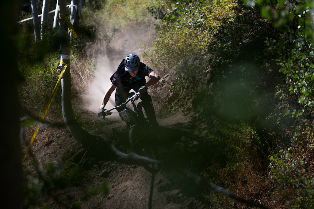 Cameron Garrison races Stage Two of the SCOTT Enduro Cup at Deer Valley Resort in Park City, UT on Aug. 28, 2016