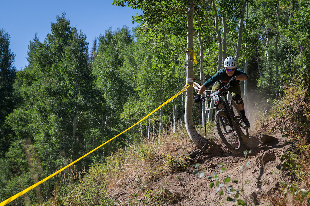 Brian Sweat races Stage Two of the SCOTT Enduro Cup at Deer Valley Resort in Park City, UT on Aug. 28, 2016