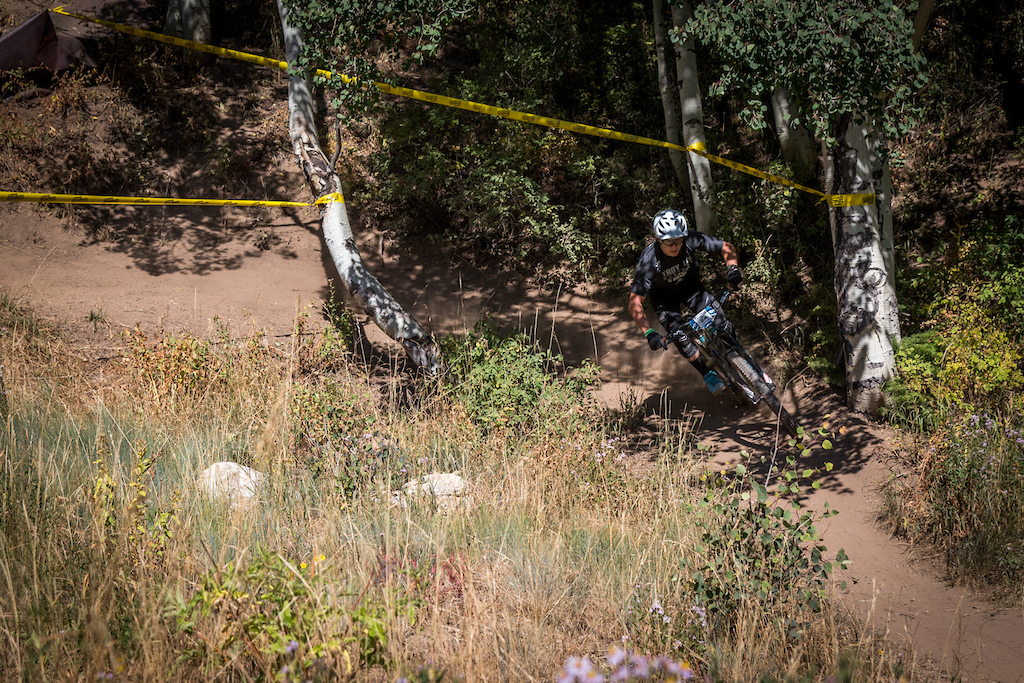 Mitch Ropelato races Stage Two of the SCOTT Enduro Cup at Deer Valley Resort in Park City, UT on Aug. 28, 2016
