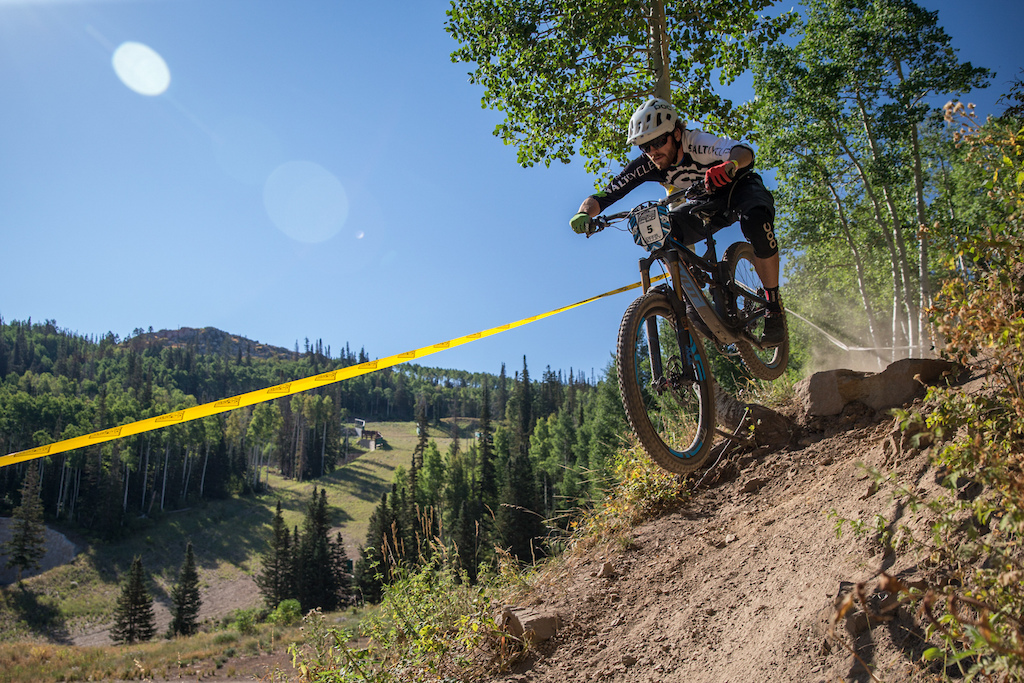Jason Christiansen races Stage Two of the SCOTT Enduro Cup at Deer Valley Resort in Park City, UT on Aug. 28, 2016