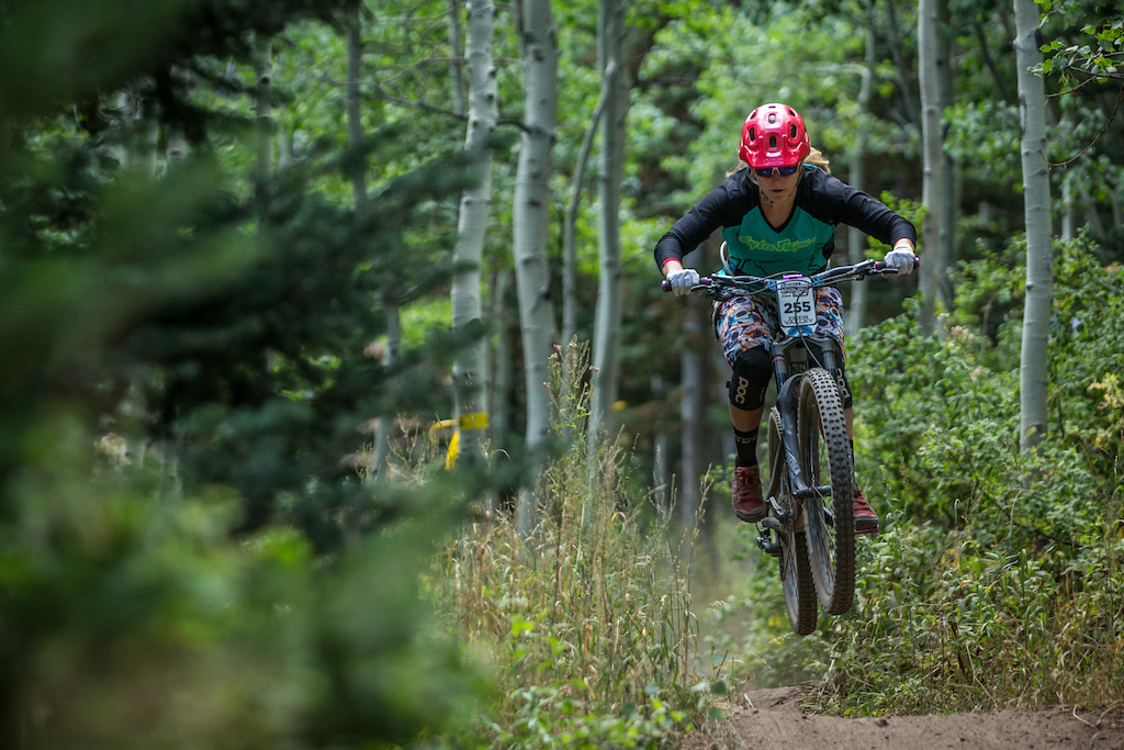 Hailey Schiff races Stage Two of the SCOTT Enduro Cup at Deer Valley Resort in Park City, UT on Aug. 28, 2016