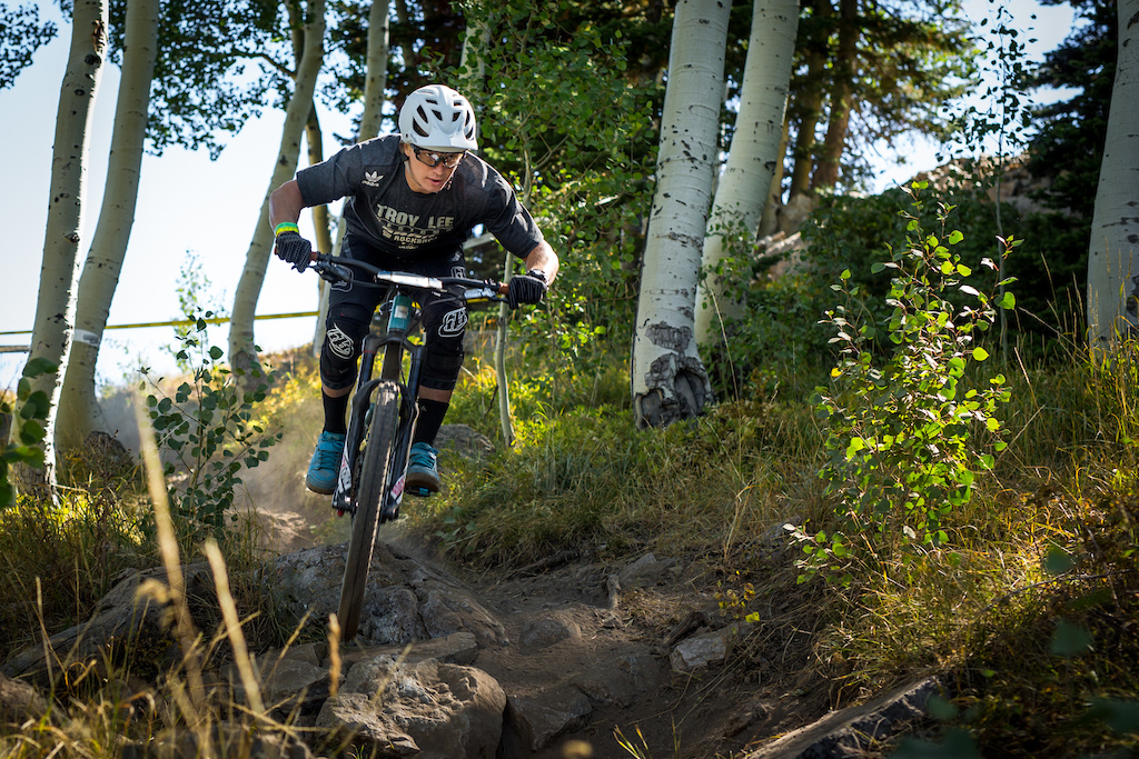 The bottom of Fireswamp is probably one of my favorite trails at Deer Valley so I had a lot of fun on that one. It was definitely loose and rutty so it was a technical fun run for sure -MR