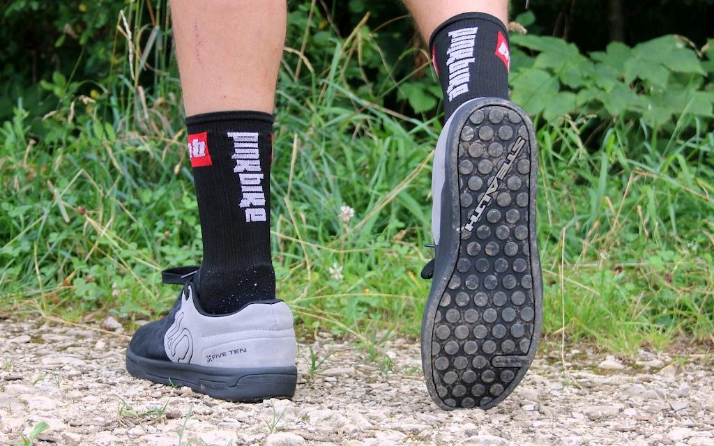 510 Danny MacAskill shoes and Pinkbike socks