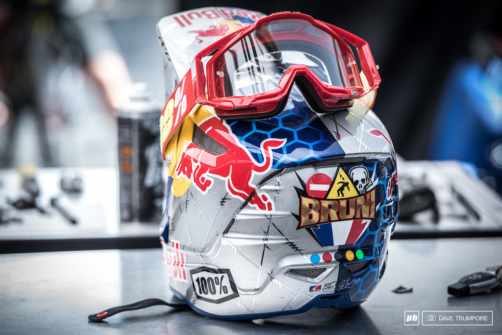 Loic has a new helmet and we are not sure if it is a reference to the crashes and bad luck he s had this season or not. What s your guess