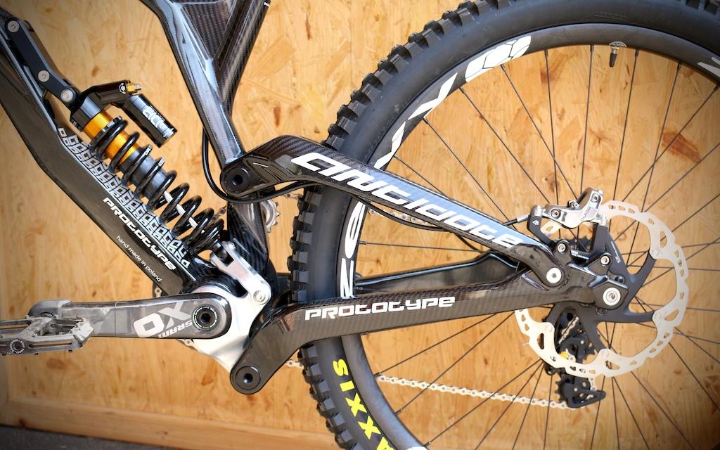 Antidote\'s Exotic Darkmatter Carbon DH Bike - Eurobike 2016 - Pinkbike