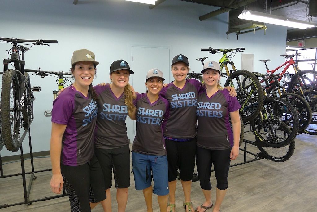 The lovely ladies of Shred Sisters in Kazoom Custom Jerseys!