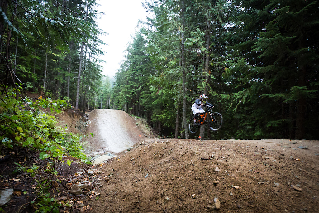 Phat Wednesday - chainless A-line race at Whistler bike park.