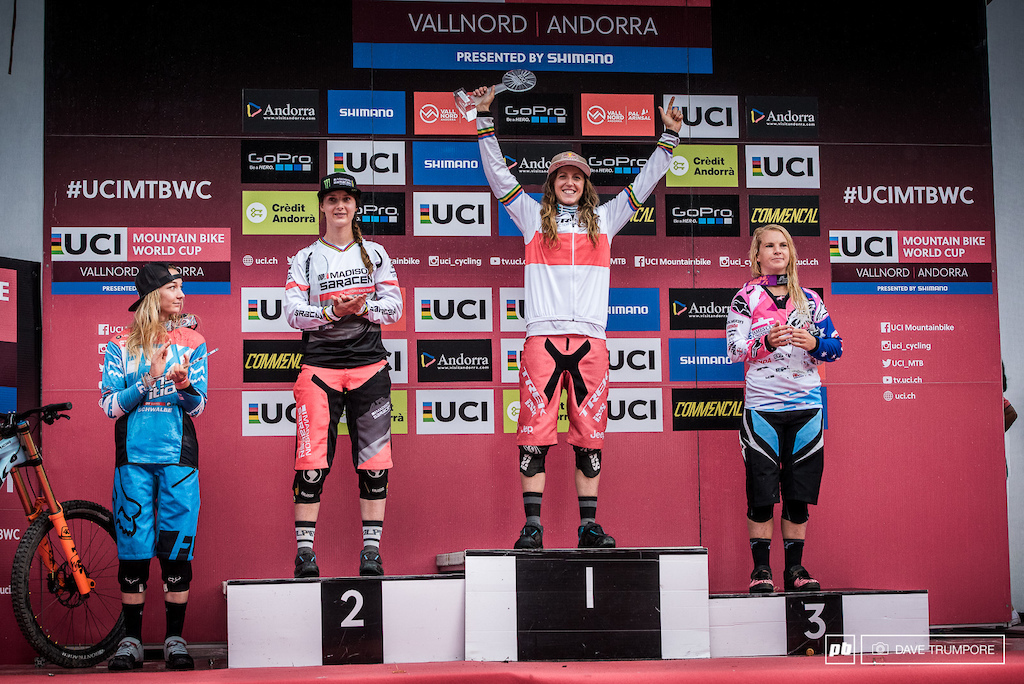 The five fastest ladies of the 2016 UCI World Cup.