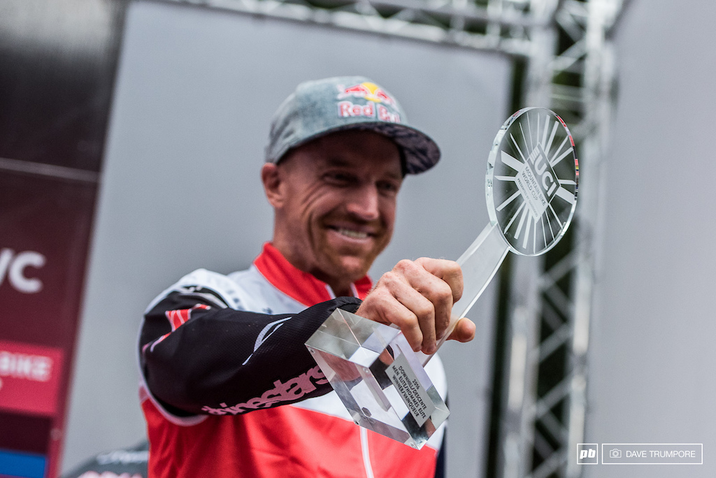 Aaron Gwin s fourth fist place trophy in six years... Good times indeed.