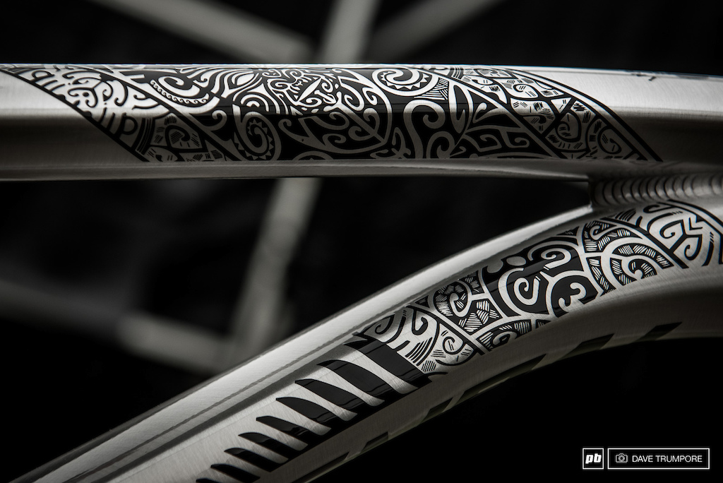 A close up of the detail on George Brannigan s Commencal