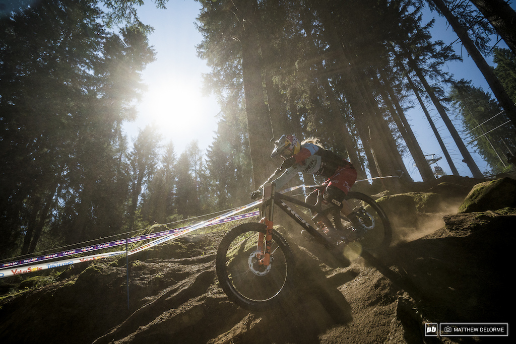 Rachel Atherton making it look all too easy.