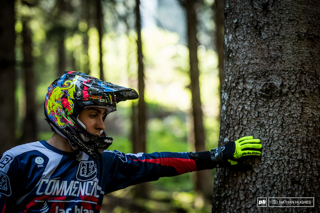 Commencal Lac Blanc's Amaury Pierron and team mate, Tomas Estaque, looked on mighty fine form today in the forest.