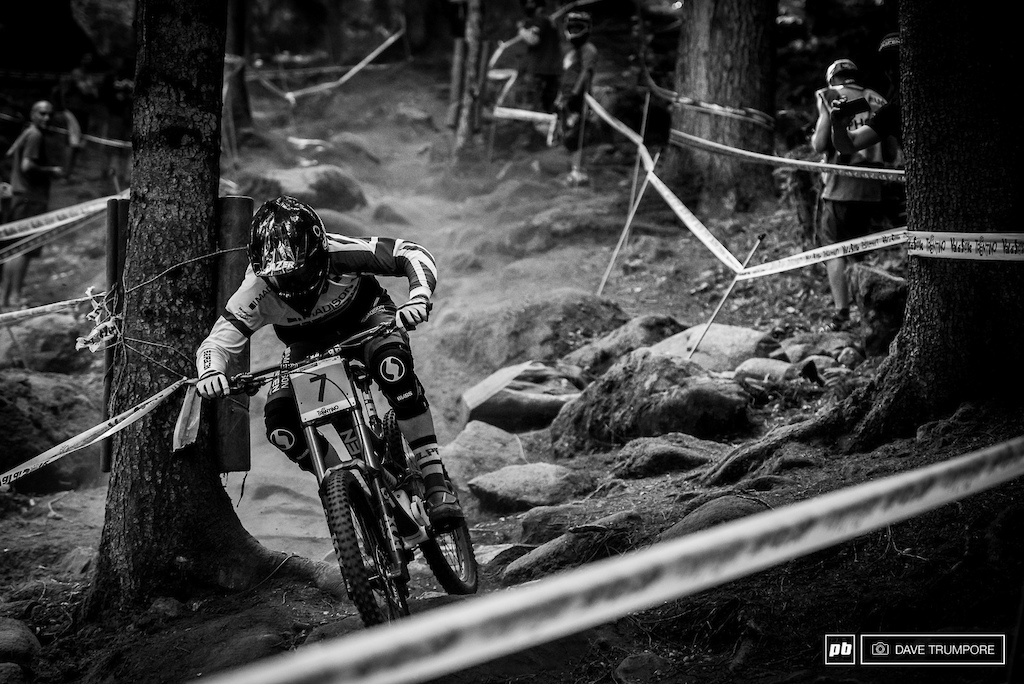 Matt Walker has been nursing an injury the past few rounds but says he feels strong on the rough Val di Sole track.
