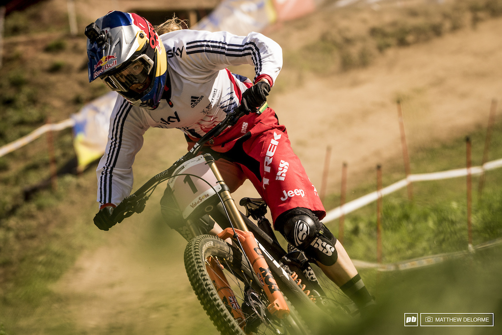 Rachel Atherton had her eyes on the prize today and brings home home her 15th consecutive win.