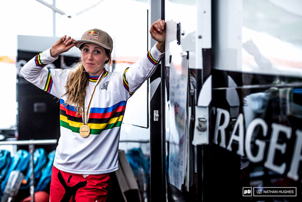 Tip of the hat to 4 gold medals and the perfect season. Congratulations to the unstoppable Rachel Atherton from all Pinkbike