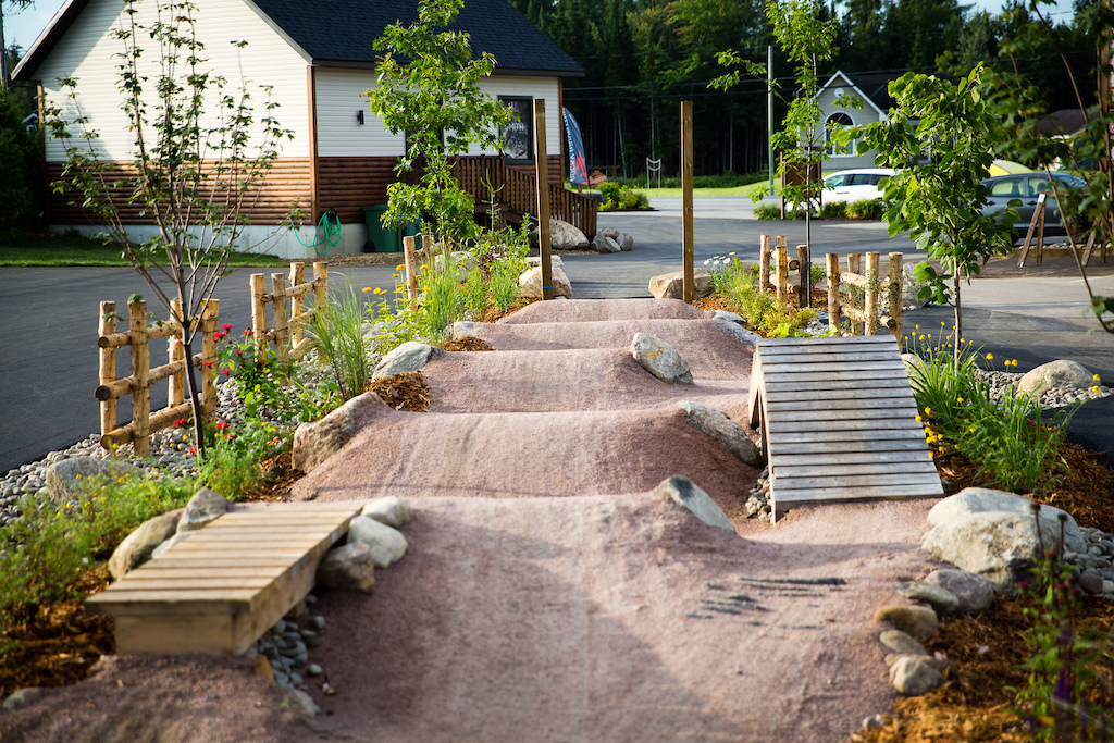 Not your average hotel landscaping job here. This is the first of what will be a pumptrack circle around the Roquemont. PHOTO: Ben Gavelda