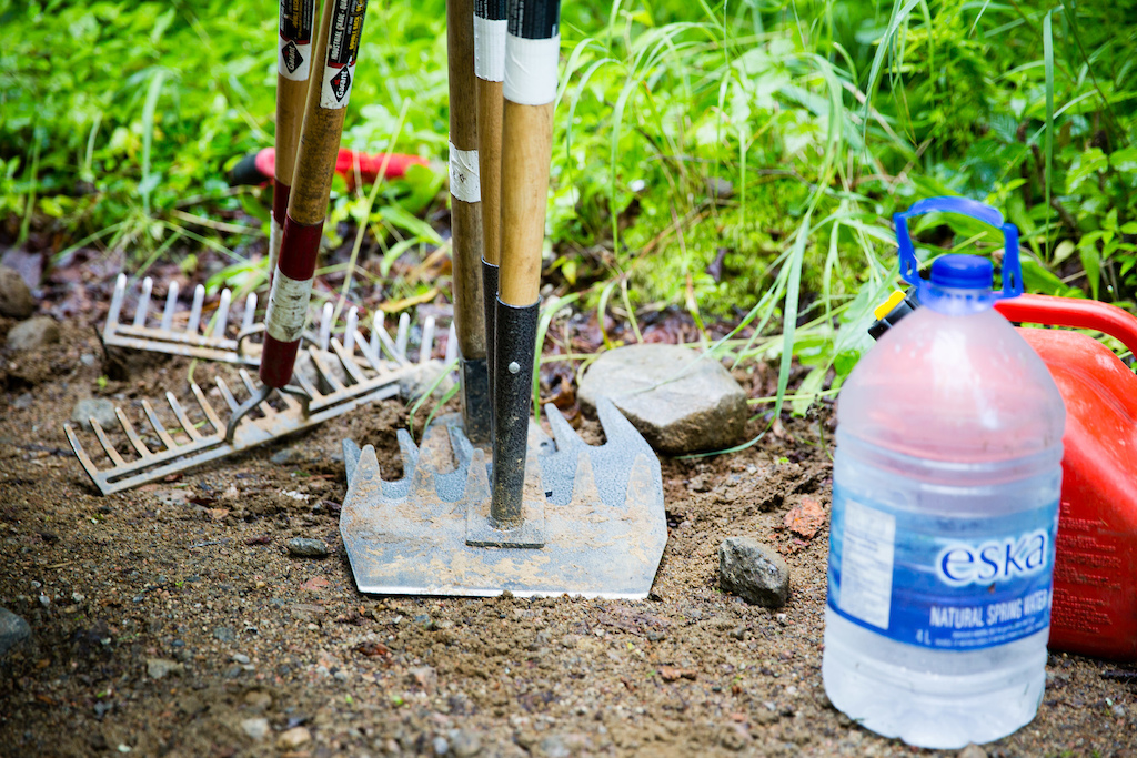Trail tools. PHOTO: Ben Gavelda