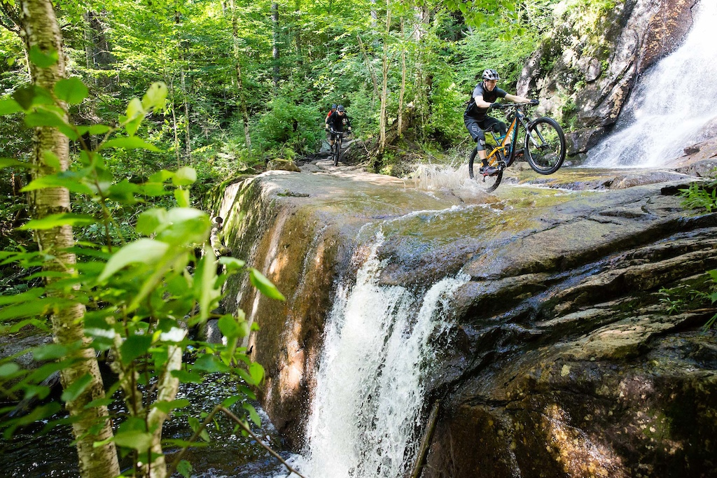 Wheelies 'n waterfalls. PHOTO: Ben Gavelda