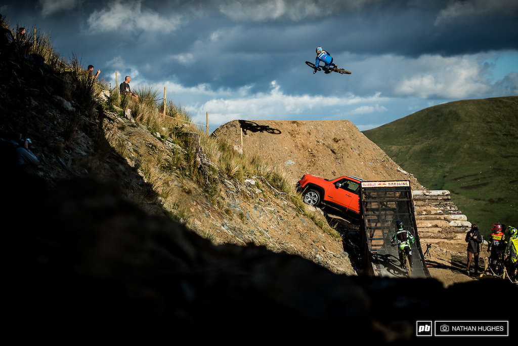 Last year's champ, Ruaridh Cunningham, showing exactly how the Renegade jump should be boosted.