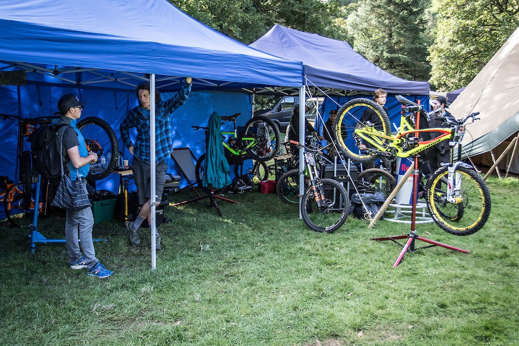 The pits are a little different to those found at the World Cups.