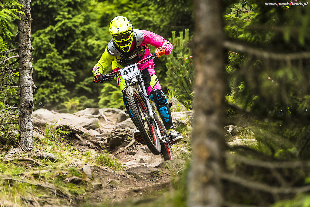 Black Mountain Polish Championship track. Many roots and rock, very technical and stregnth