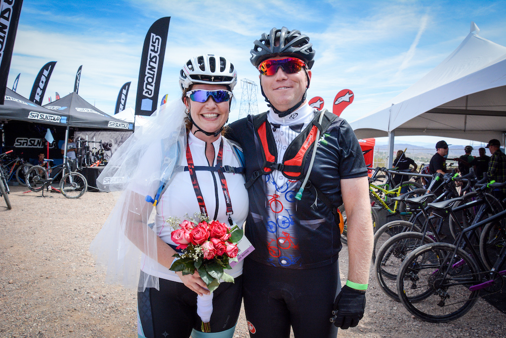 Sarah Magee and Christ Stewart from Petawawa Ontario chose today to get married at the Outdoor Demo. They both love mountain biking and were going to be here anyway so thought why not