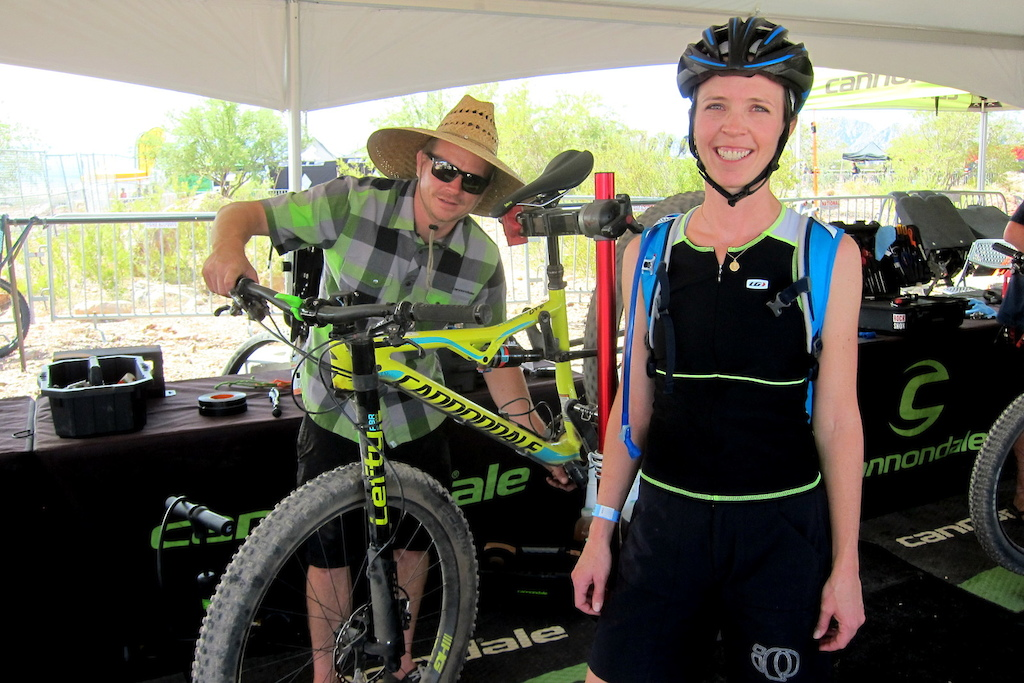 Christy Cook and Kevin Costz at Cannondale