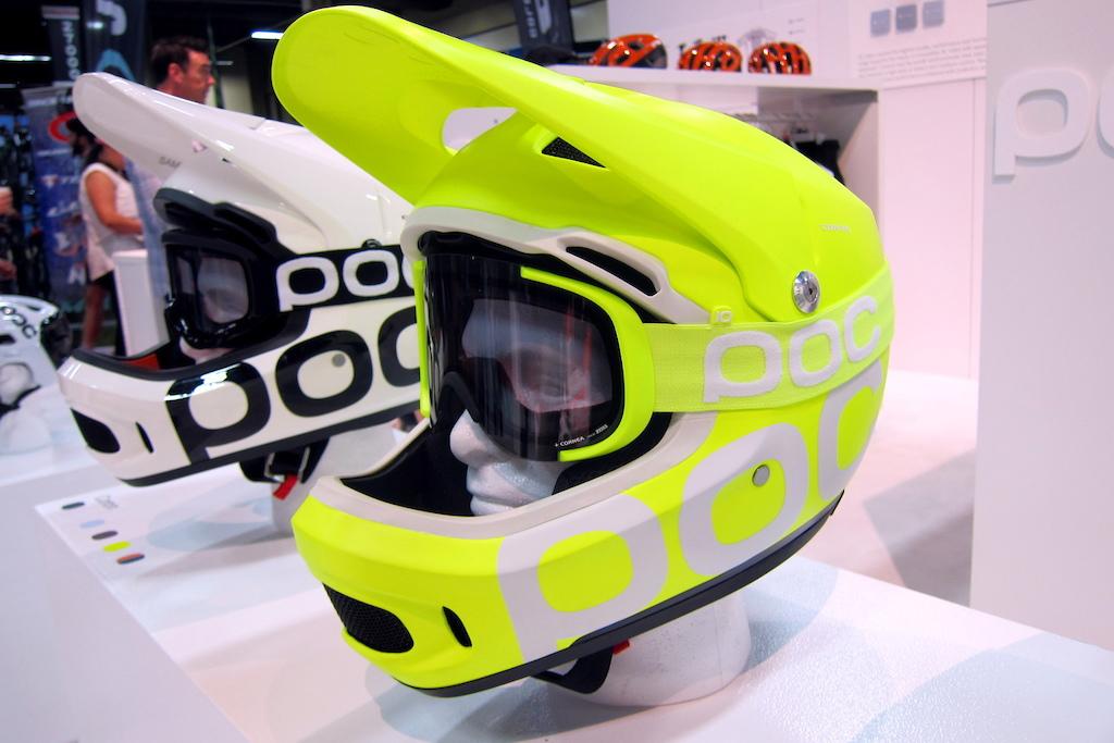 POC Coron day glo helmet