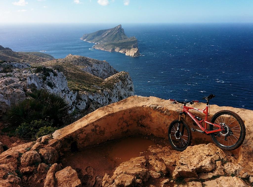 La Trapa viewpoint overlooking Sa Dragonera island, Andratx area, Mallorca, Islas Baleares, Spain