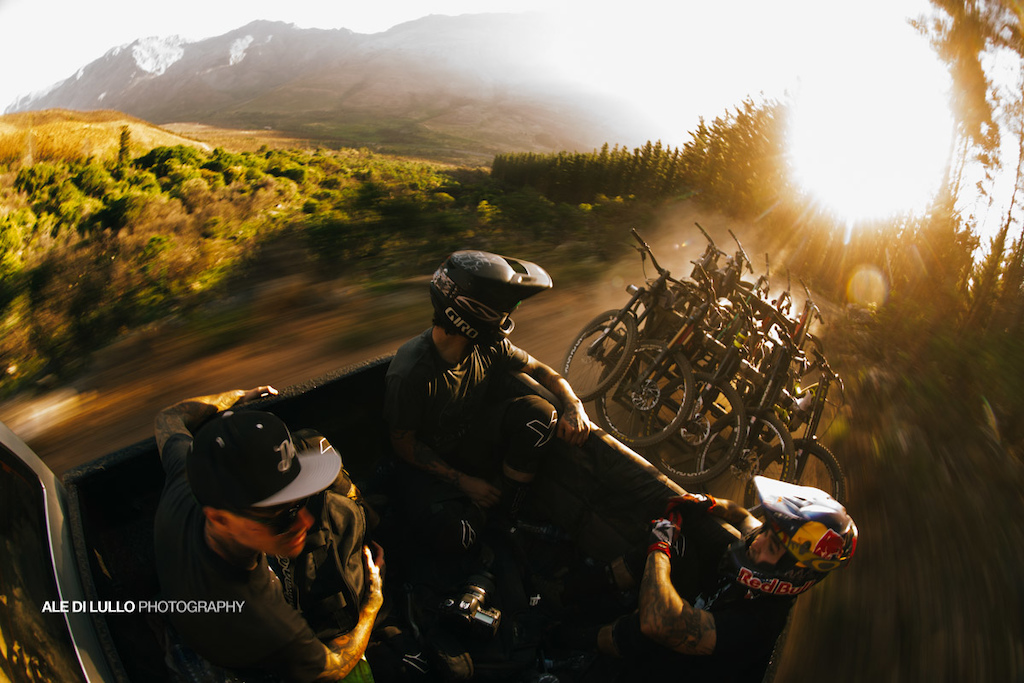 Just the end of a perfect day shredding with the yt team on assignment near cape Town