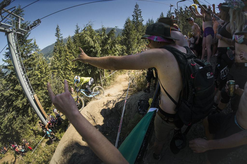 Eliot Jackson on Heckler s Rock Canadian Open DH Crankworx Whistler 2016.