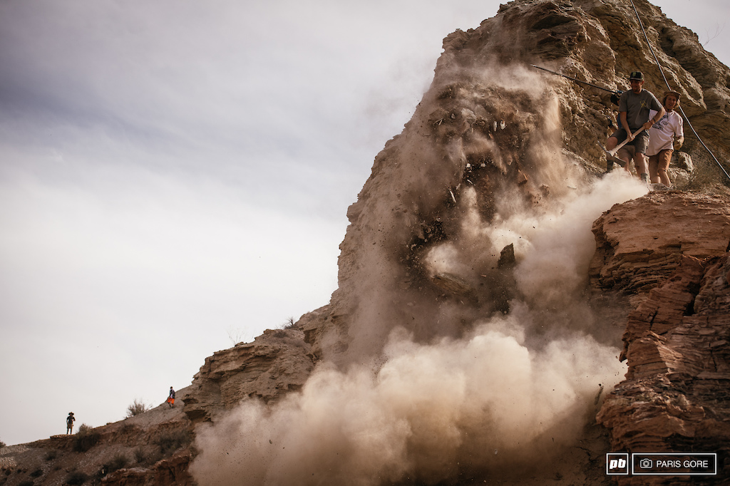 Brendog and Brett Rheeder picked apart some huge boulders off a spine on the top ridge.
