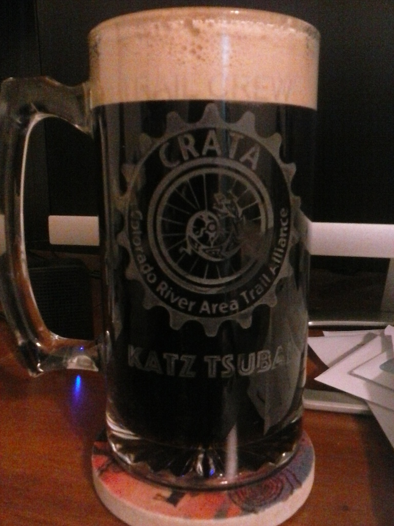 My personalized mug.  Thanks Scott and Denise.  Cheers, Ed, Joe, and Allen!