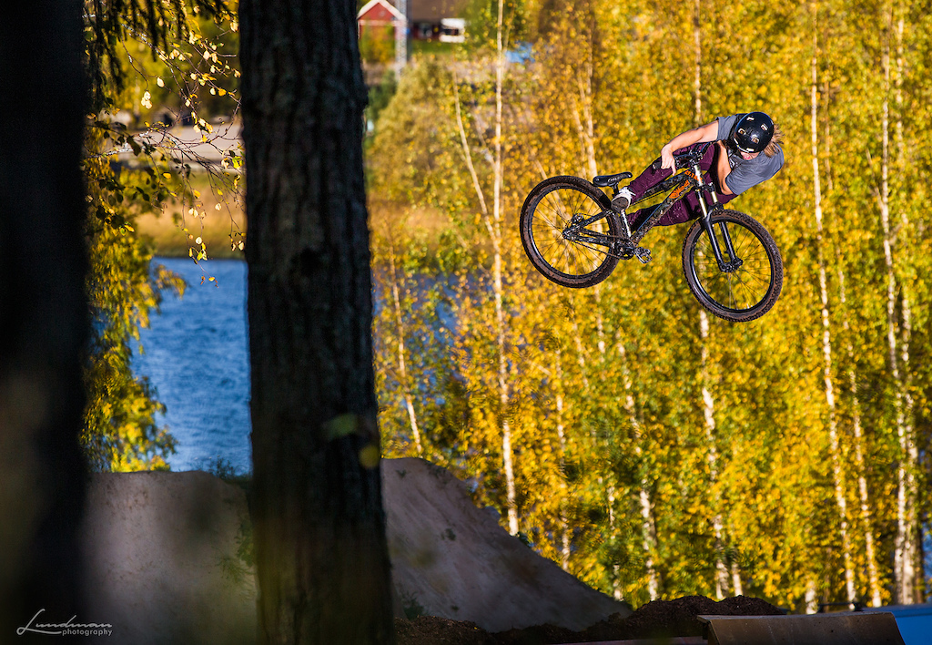 Ending the season at Alfta Bike Park.