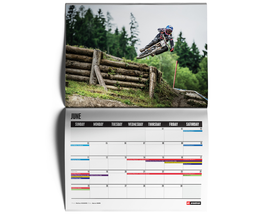 Samples of the 2017 Pinkbike Calendar