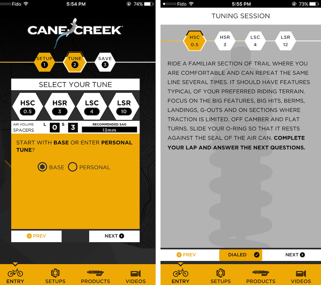 Cane Creek Dialed App