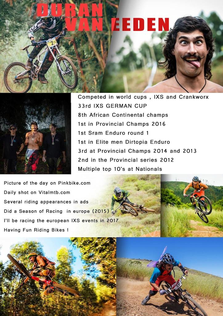 dead rabbit bike welcom Duran Van Eeden. We are pround to go with Duran as factory rider in the 2017 Season