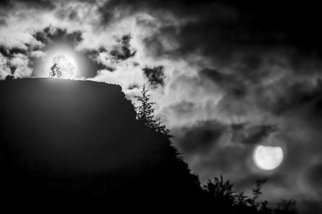 Super Moon in Arrowtown New Zealand