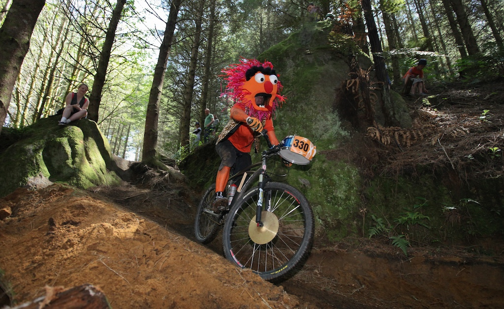 Singlespeed World Champs in Rotorua New Zealand. They are back in 2017 November 18 19. Photo Alan Ofsoski. Best dressed 2010 Animal aka Timo St Anton