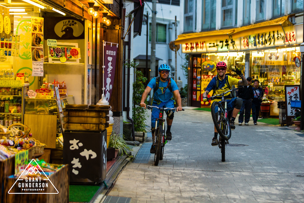 KC Deane Geoff Gulevich mountain biking in Nozawa Onsen Japan