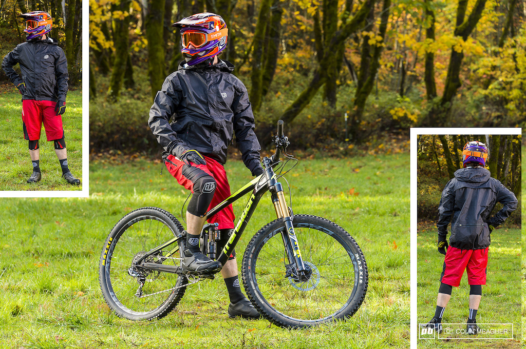 Troy Lee Designs The Ruckus Jacket and Ruckus Ripstop Shorts. Accessories TLD D3 Carbon Helmet TLD Ace Cold Weather Glove Smith Fuel V.1 FGoggle TLD Speed Knee Sleeve Ace Wool Socks Shimano MW7 WInter shoes.