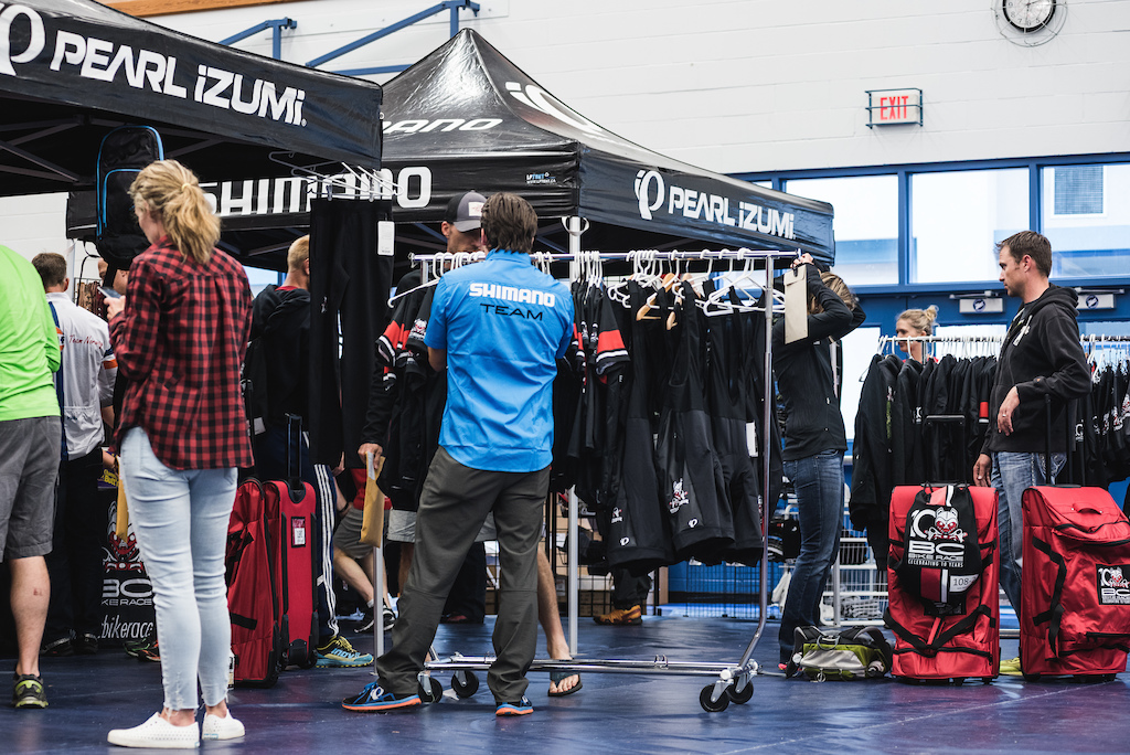 Wha is an eent with out branded merchandise. Pearl iZumi had the honor of supplying the official race kits and completely sold out before the end of the event. Photo BCBR Dave Silver