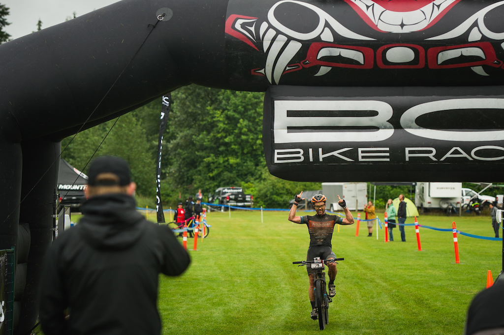 Cory Wallace makes his presence known with a convincing Stage 1 win. Photo BCBR ERIK PETERSON