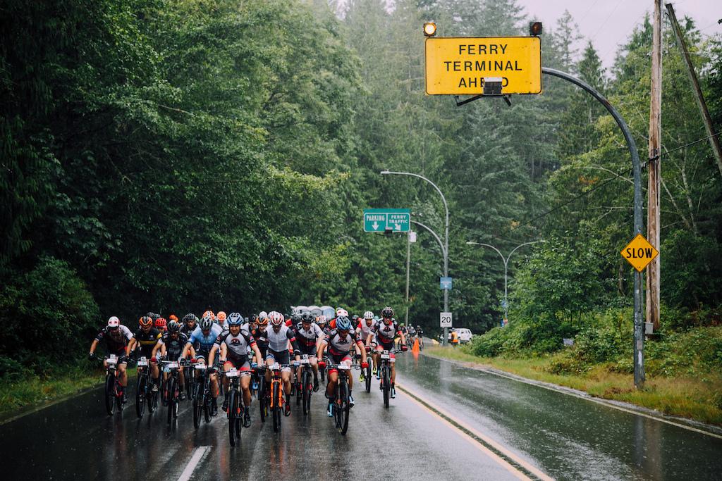Day 3 s start was a little wet...Photo BCBR Norma Ibarra LaPir0